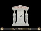 CARYATIDES PEDIMENT CLOCK