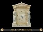 CARYATIDS WALL UP CLOCK