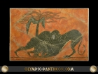 HERACLES AND LION 18X12