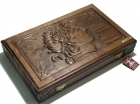 NEROULIAS CARVED BACKGAMMON ALEXANDER THE GREAT